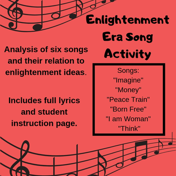 Enlightenment Ideas Songs Assignment