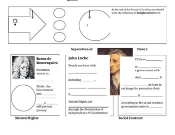 Enlightenment Ideas of Locke & Montesquieu