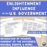 Enlightenment Influence on American Government Worksheet w