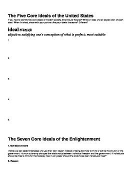 Enlightenment Opening Activity