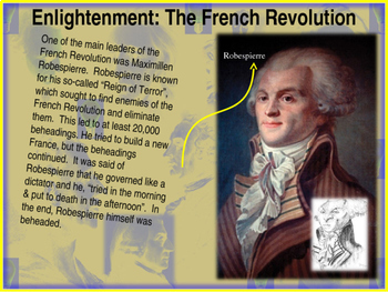 Enlightenment! (PART 3: FRENCH REVOLUTION) visual, textual, engaging