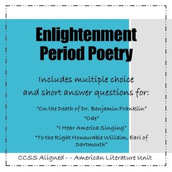Enlightenment Period Poetry Bundle
