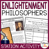 Enlightenment Philosophers | Age of Enlightenment Stations and Writing Activity
