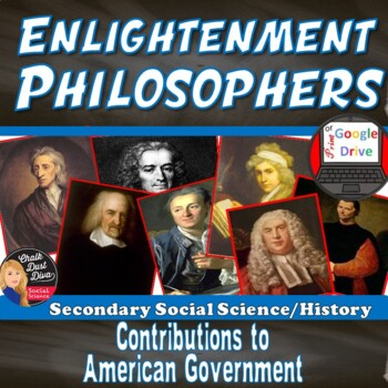 Enlightenment Philosophers Gallery Walk Activity Print Digital