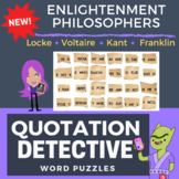 Enlightenment Thinkers  - Word Puzzle Worksheets in Color