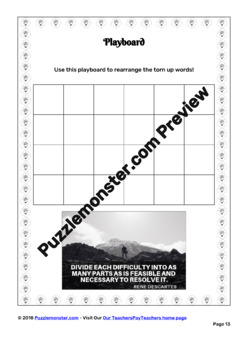 Enlightenment Thinkers  - Worksheets - Word Puzzles in Black and White