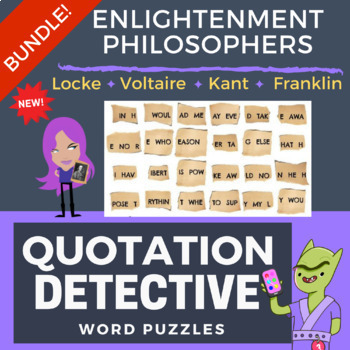 The Enlightenment - BUNDLE of Word Puzzles