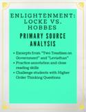 Enlightenment Primary Source Analysis: John Locke & Thomas Hobbes