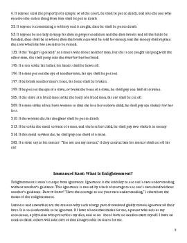 Enlightenment Primary Source Set