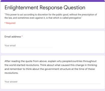Enlightenment Response Question