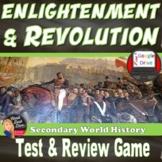 Enlightenment & Revolution Test & Review Game- Editable (World History)