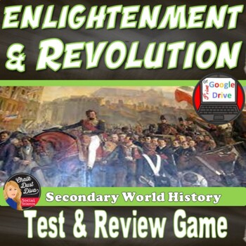 Enlightenment & Revolution Test & Review Game- Editable (W