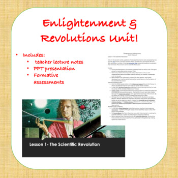 Enlightenment & Revolutions PPT with Lecture Notes
