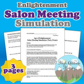 Salon Meeting Simulation (Enlightenment)