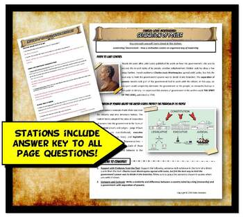 Enlightenment Stations Activity Set with Graphic Organizers and Worksheets