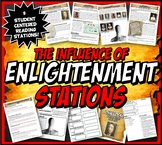 Enlightenment Stations Activity Set with Graphic Organizers Distance Learning