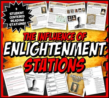 Enlightenment Stations Activity Set with Graphic Organizer