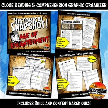 Enlightenment Bundle Age of Reason Lesson Activity Unit Plan Common Core