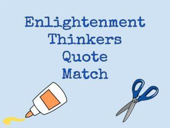 Enlightenment Thinkers Cut and Paste