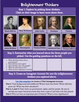 Enlightenment Thinkers Digital Exploration