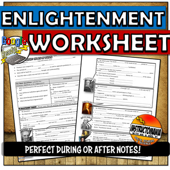 Enlightenment Thinkers Powerpoint Graphic Organizer Tpt