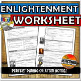 Enlightenment Thinkers Worksheet or Graphic Organizer