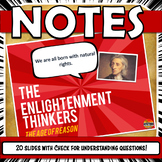 Enlightenment Thinkers PowerPoint Notes