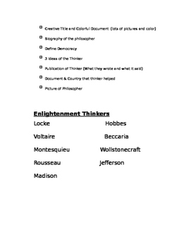 Enlightenment Thinkers Project