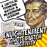 Enlightenment Thinkers Common Core Quote Match Activity