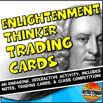 Enlightenment Trading Card Activity Powerpoint and Trading Cards Template