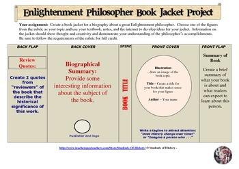 Enlightenment Writers & Philosophers Bookjacket Project