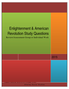 Enlightenment and American Revolution Study Guide