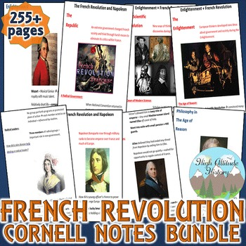 Enlightenment and French Revolution Cornell Notes *Bundle* (World History)