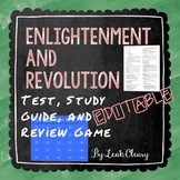 Enlightenment and Revolution Editable Test, Study Guide, a
