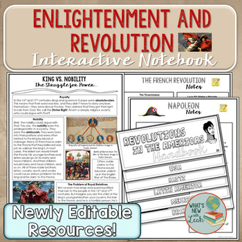 Enlightenment and Revolution Interactive Notebook