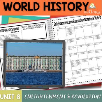 Enlightenment and Revolution Interactive Notebook Complete Unit Bundle