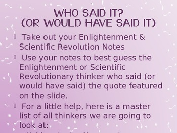 Enlightenment and Scientific Revolution Review PowerPoint