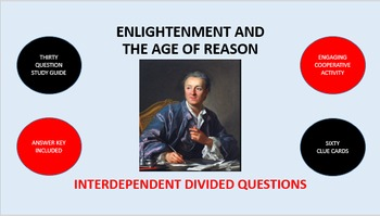 Enlightenment and the Age of Reason: Interdependent Divided Questions Activity