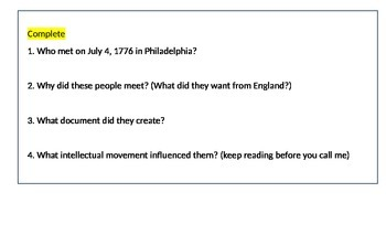 The Enlightenment and the American Revolution (Reading & Activity)