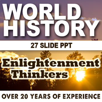 Enlightenment Thinkers Lesson World History