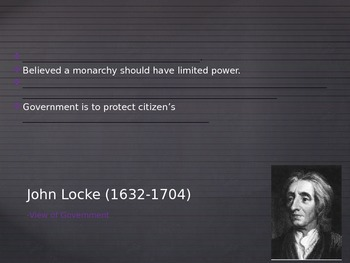 Enlightenmnet Thinkers: Locke and Montesquieu