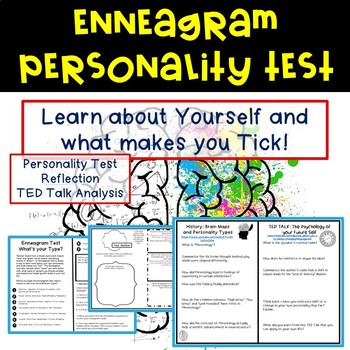 photo relating to Printable Enneagram Test named Persona Checks Worksheets Instruction Components TpT