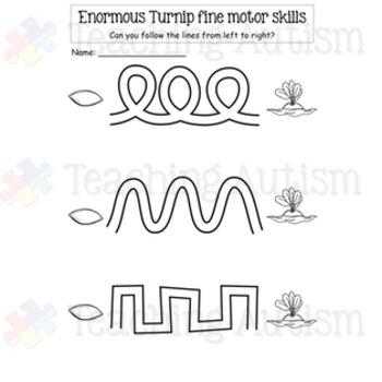 Enormous Turnip Fine Motor Skills Pre Handwriting Practice