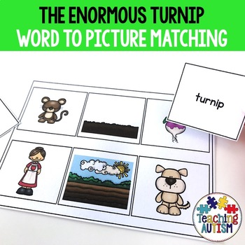 The Enormous Turnip, Word Picture Matching