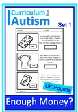 Enough Money Budgeting Autism Life Skills Special Education UK Pounds