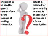 Enquire vs Inquire