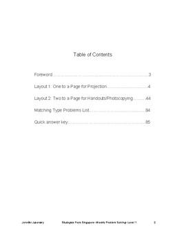 Enrich Weekly: Bar Method Modeling 40-Pack, w/Answer Keys, 2 Layouts,  Level 1