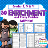 Enrichment 30 Critical Thinking Worksheets! Grades 2, 3 & 4!
