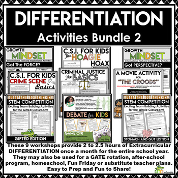 Gifted and Talented Projects and Activities | Enrichment Bundle 2