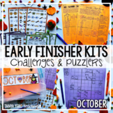 HALLOWEEN Activities Early Finisher Puzzles | Math Enrichm